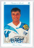 Carte Postale Olympique De Marseille - OM Saison 1994/1995 CasoniBernard 32 Ans 66 Kg 1m77 - Calcio