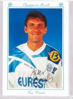 Carte Postale Olympique De Marseille - OM Saison 1994/1995 CascarinoTony 32 Ans 79 Kg 1m92 - Calcio