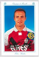 Carte Postale Olympique De Marseille - OM Saison 1994/1995 BarthezFabien 23 Ans 76 Kg 1m83 - Calcio