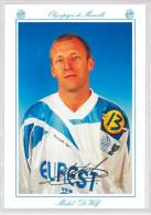 Carte Postale Olympique De Marseille - OM Saison 1994/1995 De WolfMichel 36 Ans 70 Kg 1m72 - Calcio