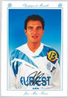 Carte Postale Olympique De Marseille - OM Saison 1994/1995 FerreriJean-Marc 31 Ans 66 Kg 1m72 - Calcio