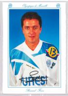 Carte Postale Olympique De Marseille - OM Saison 1994/1995 FerrerBernard 30 Ans 74 Kg 1m78 - Calcio