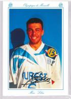Carte Postale Olympique De Marseille - OM Saison 1994/1995 LibbraMarc 22 Ans 79 Kg 1m89 - Calcio