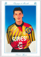 Carte Postale Olympique De Marseille - OM Saison 1994/1995 SpinosiLaurent 24 Ans 75 Kg 1m80 - Calcio