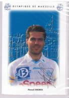 Carte Postale Olympique De Marseille - OM Saison 1995/1996 AmorosManuel 34 Ans 74 Kg 1m72 - Calcio