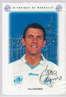 Carte Postale Olympique De Marseille - OM Saison 1995/1996 CascarinoTony 33 Ans 79 Kg 1m92 - Calcio