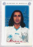 Carte Postale Olympique De Marseille - OM Saison 1995/1996 DibMarcel 35 Ans 75 Kg 1m79 - Calcio