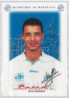 Carte Postale Olympique De Marseille - OM Saison 1995/1996 EchouafniOlivier 22 Ans 77 Kg 1m84 - Calcio