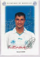 Carte Postale Olympique De Marseille - OM Saison 1995/1996 CasoniBernard 33 Ans 66 Kg 1m77 - Calcio