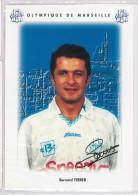 Carte Postale Olympique De Marseille - OM Saison 1995/1996 FerrerBernard 31 Ans 74 Kg 1m78 - Calcio