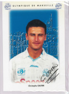 Carte Postale Olympique De Marseille - OM Saison 1995/1996 GaltierChristophe 29 Ans 71 Kg 1m76 - Calcio
