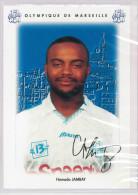 Carte Postale Olympique De Marseille - OM Saison 1995/1996 JambayHamada 20 Ans 75 Kg 1m77 - Calcio