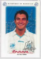 Carte Postale Olympique De Marseille - OM Saison 1995/1996 FerreriJean-Marc 32 Ans 66 Kg 1m72 - Calcio