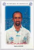 Carte Postale Olympique De Marseille - OM Saison 1995/1996 MazzoliniStéphane 28 Ans 70 Kg 1m70 - Calcio