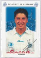 Carte Postale Olympique De Marseille - OM Saison 1995/1996 Cyril Revillet 20 Ans 68 Kg 1m70 - Calcio