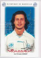 Carte Postale Olympique De Marseille - OM Saison 1995/1996 MarquetJean-Christophe 21 Ans 83 Kg 1m83 - Calcio