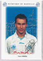 Carte Postale Olympique De Marseille - OM Saison 1995/1996 VignolaFranco 28 Ans 64 Kg 1m63 - Calcio