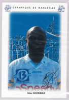 Carte Postale Olympique De Marseille - OM Saison 1995/1996 Didier Wacaboué 21 Ans 75 Kg 1m80 - Calcio