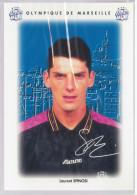 Carte Postale Olympique De Marseille - OM Saison 1995/1996 SpinosiLaurent 25 Ans 75 Kg 1m80 - Calcio