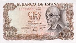 Spain 100 Pesetas 1970(1974) Pick 152 UNC - Espagne