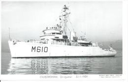 """CP PHOTO: """" OUISTREHAM """" -  DRAGUEUR M 610  5-11-1959  (  - BATEAU DE GUERRE ) - Guerre"""
