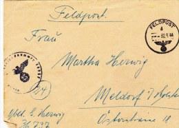 Feldpost WW2: 3. Kompanie Kraftfahr-Abteilung 906 FP 36737 P/m 30.9.1944 - Cover Only  (G68-22) - Militaria