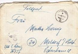 Late Feldpost WW2: 3. Kompanie Kraftfahr-Abteilung 906 FP 36737 P/m 2.1.1945 - Cover Only  (G68-22) - Militaria