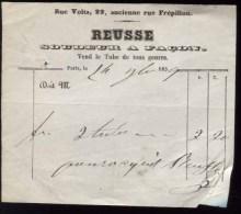 PARIS - Reusse - Soudeur à Façon - 22 Rue Volta - 1859 - 1800 – 1899