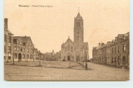 WARNETON - Grand'Place Et église. - Comines-Warneton - Komen-Waasten