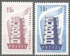 """FR YT 1076 à 1077 """" EUROPA """" 1956 Neuf* - Unused Stamps"""