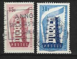 """FR YT 1076 à 1077 """" EUROPA """" 1956 Oblitéré - Usati"""