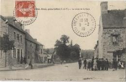 CPA - ERCE Près LIFFRE - LA ROUTE DE LA GARE - Edition E.Mary Rousselière /N°2930 - France