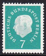 !a! BERLIN 1959 Mi. 182 MNH SINGLE -Federal President Theodor Heuss - [5] Berlin
