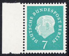 !a! BERLIN 1959 Mi. 182 MNH SINGLE W/ Left Margin -Federal President Theodor Heuss - [5] Berlin
