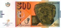 Macedonia,500 Denari,2003, A:gold Masc( VIc.BC),O:flower Of Poppy,UNC,as Scan - Macedonia