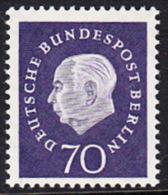 !a! BERLIN 1959 Mi. 186 MNH SINGLE -Federal President Theodor Heuss - [5] Berlin