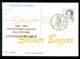 INTERO POSTALE - INTERI POSTALI - CARTOLINA POSTALE - IPZS - I.P.Z.S-MANCASALE-ARTISTI -ANTONIO LIGABUE-BORSE COLLEZIONI - 6. 1946-.. Repubblica