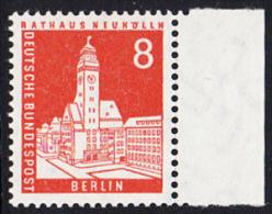 !a! BERLIN 1959 Mi. 187 MNH SINGLE W/ Right Margin -Berlin Town Views: Town Hall Neukoelln - [5] Berlin