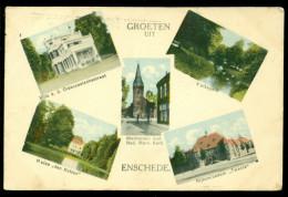 Nederland Ansichtkaart 1938 Groeten Uit Enschede - Nederland