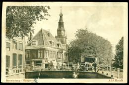 Nederland Ansichtkaart 1926 Alkmaar Steenenbrug Waagtoren - Alkmaar