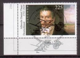 BRD , 2002 , Mi.Nr. 2255 O / Used Eckrand , Ersttagsstempel - BRD