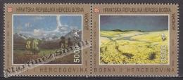 Bosnia Herzegovina - Mostar - Croatia  1993 - Yvert 1F-1G Europa Cept. Art - MNH - Bosnia And Herzegovina
