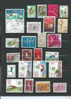 Lotpm 167  Lot De Timbres Theme Gymastique Féminine GRS - Gymnastics