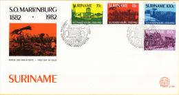 Republiek Suriname - FDC064 - 100-jarig Bestaan Suikeronderneming Mariënburg - Z 308-311 - Suriname