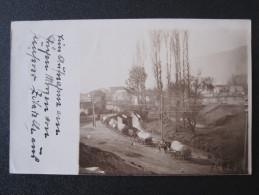 Rare Old Photo Postcard - Üsküb, Skopje, Skoplje - Caravan Of Horses - Guerra 1914-18