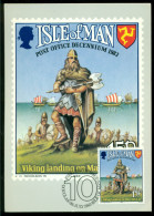 Isle Of Man Maxi Card 1983 Viking Landing On Man In 983 - [ 4] Isle Of Man / Channel Island