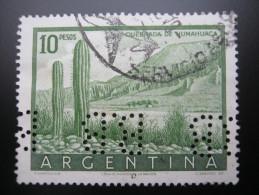 Argentinien    ,  FIRMENLOCHUNG , Perfin , 2 Scans  , Selten - Argentinien