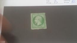 LOT 237887 TIMBRE DE FRANCE OBLITERE N�12 VALEUR 100 EUROS