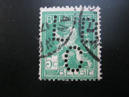 Belgien   ,  FIRMENLOCHUNG , Perfin , 2 Scans  , Selten - Lochung