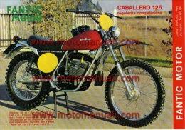 Fantic Motor 125 Regolarità 1974  Depliant Originale - Genuine Factory Sales Brochure Catalog Prospekt - Motos